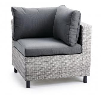 Eckteil klein für Loungemöbel Bonaire Best Polyrattan grau Bild 1