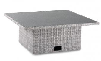 gartentisch f r loungem bel bonaire polyrattan grau 120x120cm bei. Black Bedroom Furniture Sets. Home Design Ideas