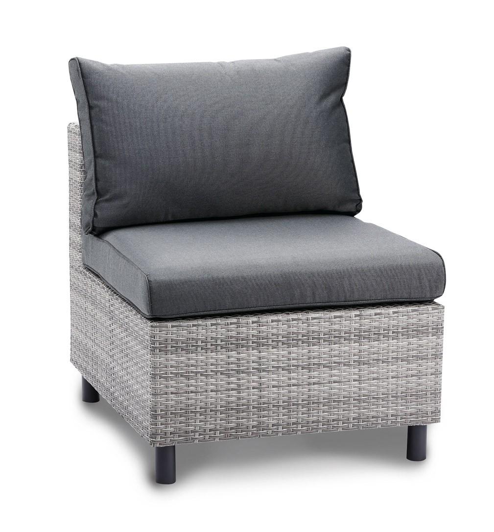 Mittelteil für Loungemöbel Bonaire Best Polyrattan grau Bild 1
