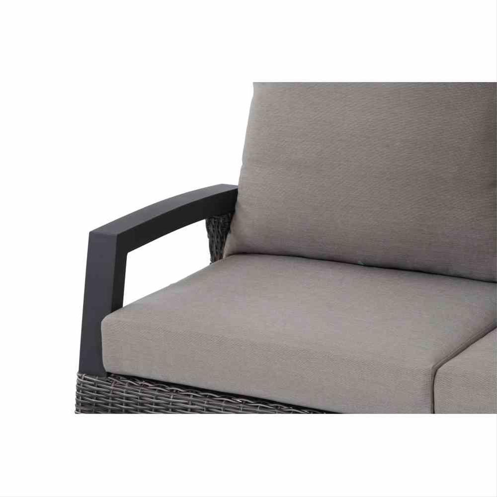Loungemodul Siena Garden Corido 2-Sitzer rechts Polyrattan charocal Bild 2