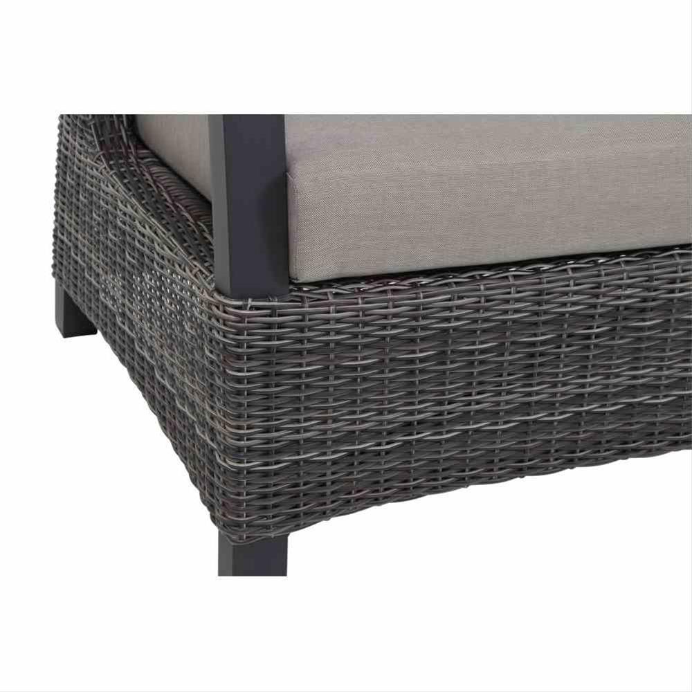 Loungemodul Siena Garden Corido 2-Sitzer rechts Polyrattan charocal Bild 4