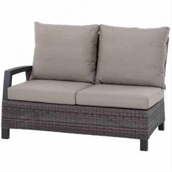 Loungemodul Siena Garden Corido 2-Sitzer rechts Polyrattan charocal Bild 1
