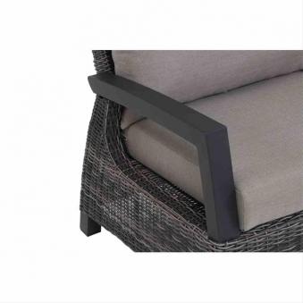 Loungemodul Siena Garden Corido 2-Sitzer rechts Polyrattan charocal Bild 3