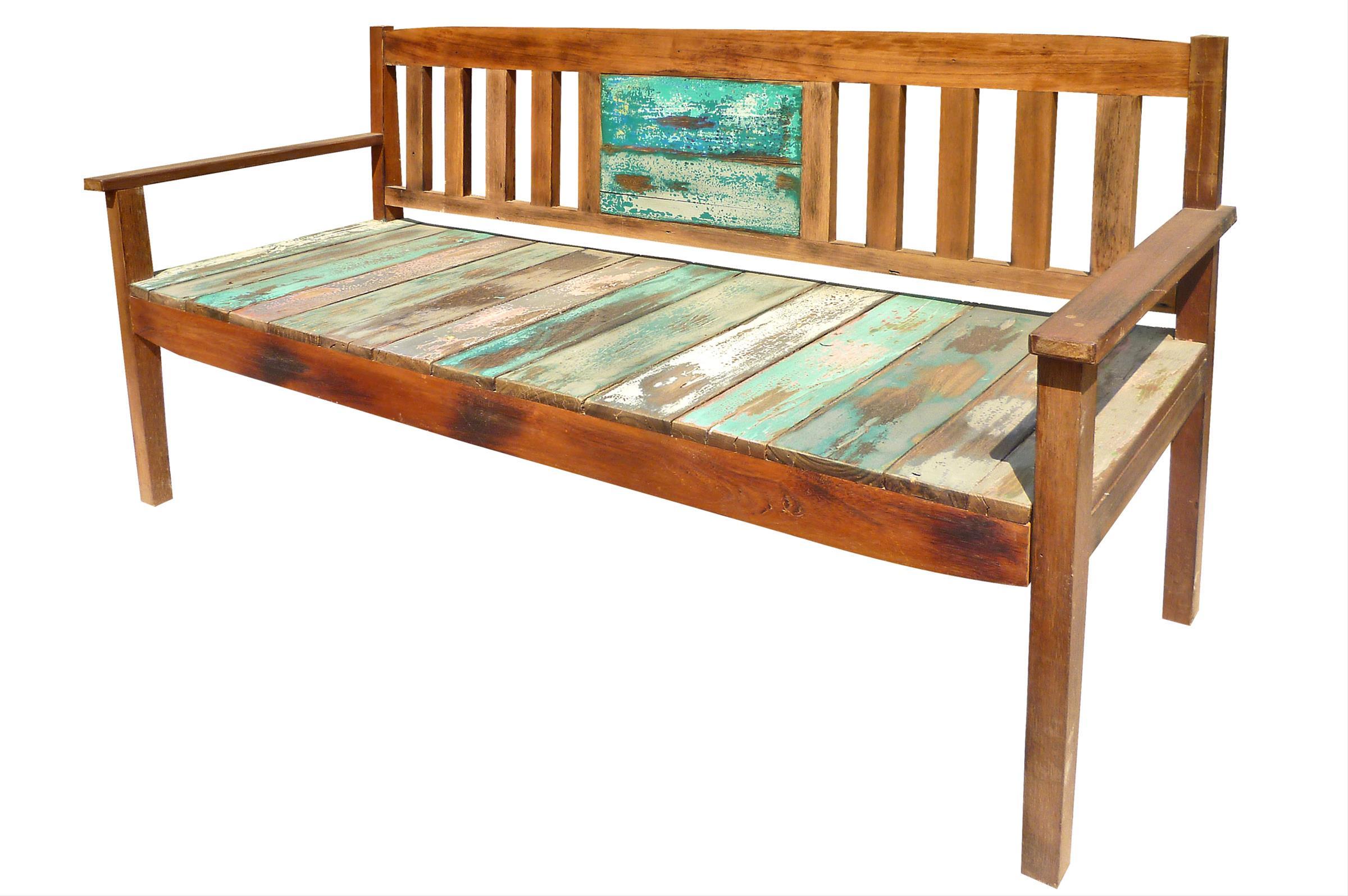 gartenbank 7106 3 sitzer aus recyceltem fischerbootholz. Black Bedroom Furniture Sets. Home Design Ideas