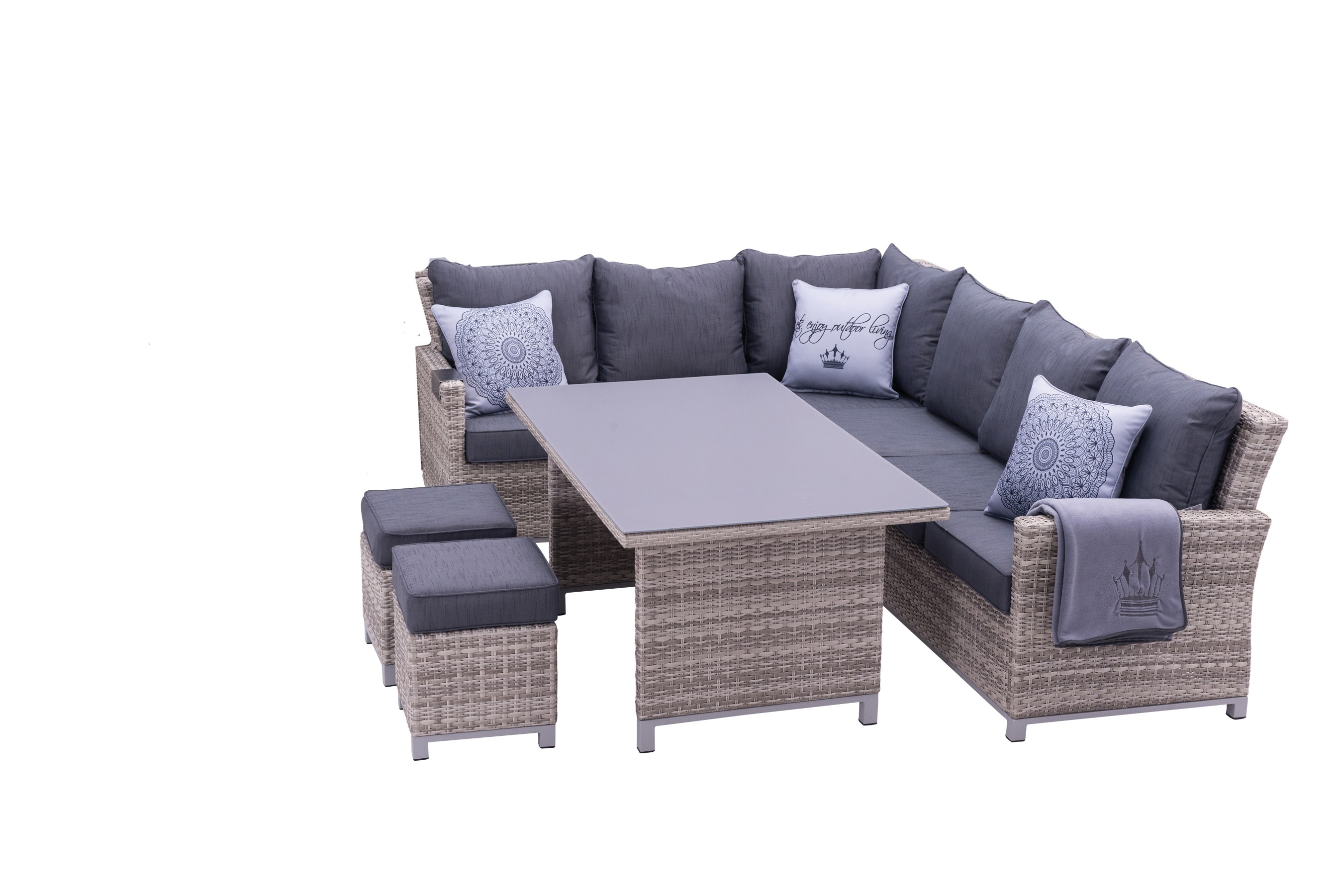 Sungörl Lounge Set / Havanna DeLuxe Set Polyrattan mixed-grey 9-teilig Bild 1