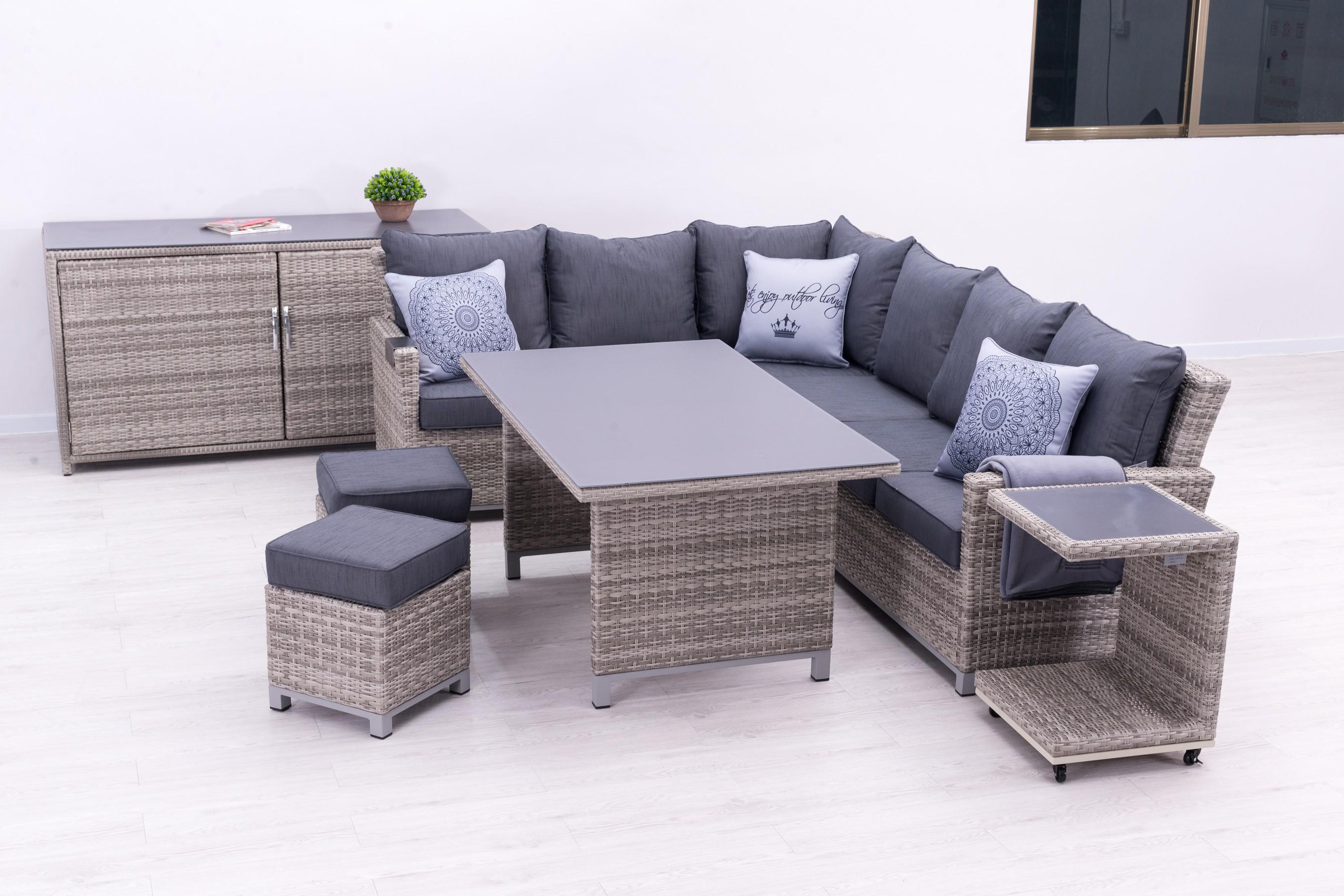 Sungörl Lounge Set / Havanna DeLuxe Set Polyrattan mixed-grey 9-teilig Bild 2