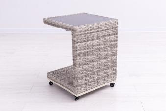 Sungörl Gartentisch / Seitentisch Gartenmöbel Havanna Polyrattan grey