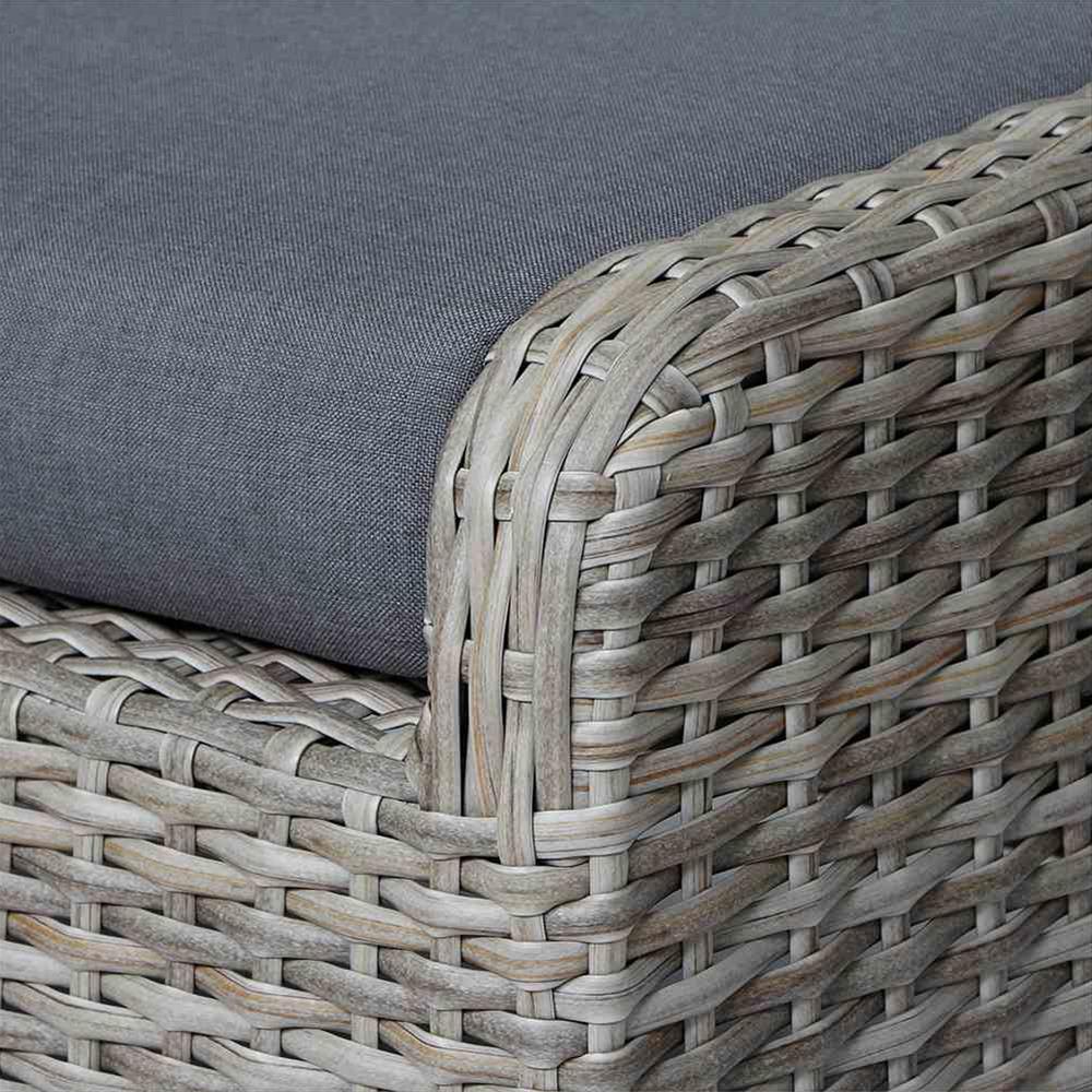 Lounge Hocker/ Gartenhocker Siena Garden Koos Polyrattan braun Bild 2