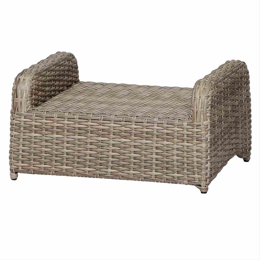 Lounge Hocker/ Gartenhocker Siena Garden Koos Polyrattan braun Bild 5