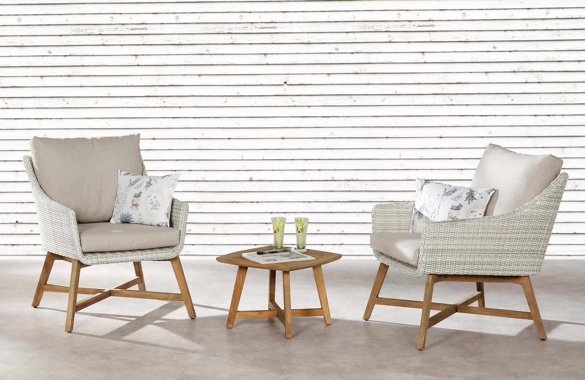 Gartentisch Lounge Tisch Paterna Best 50x50cm Teak Bei