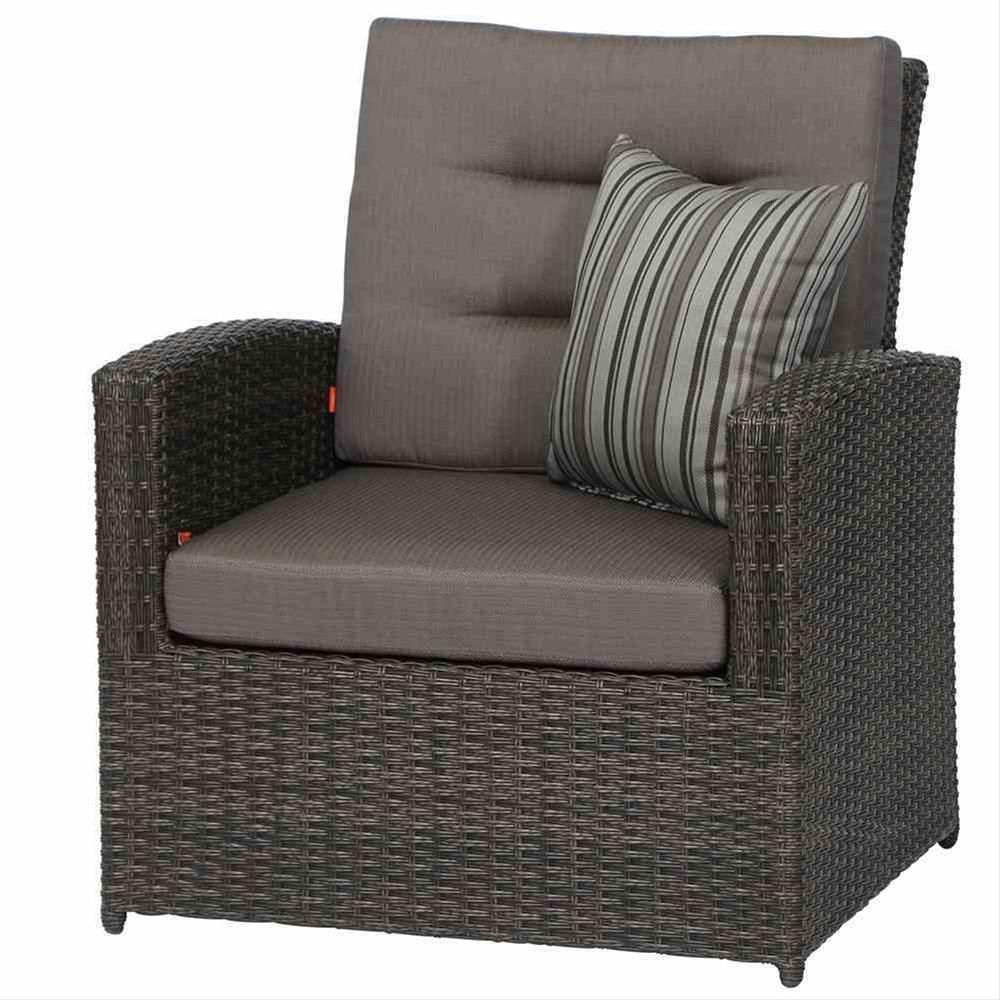 Siena Garden Lounge Sessel / Gartensessel Porto Polyrattan grau Bild 1