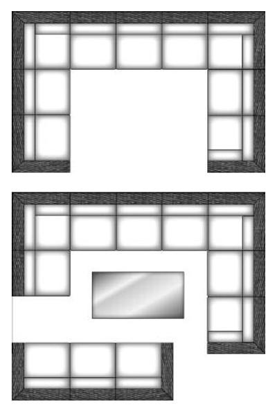 Lounge Möbel Mittelmodul für Korbmöbel Residence graphit-schwarz Bild 3