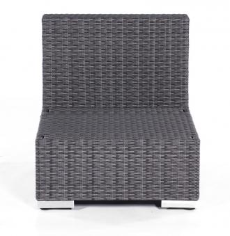 Lounge Möbel Mittelmodul für Korbmöbel Residence graphit-schwarz Bild 1
