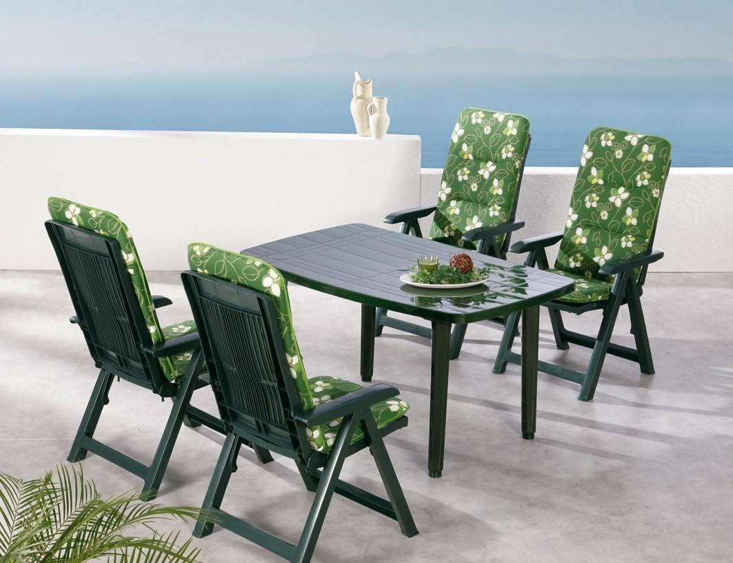 gartenm bel set santiago 9teilig kunststoff gr n polster 1262 bei. Black Bedroom Furniture Sets. Home Design Ideas