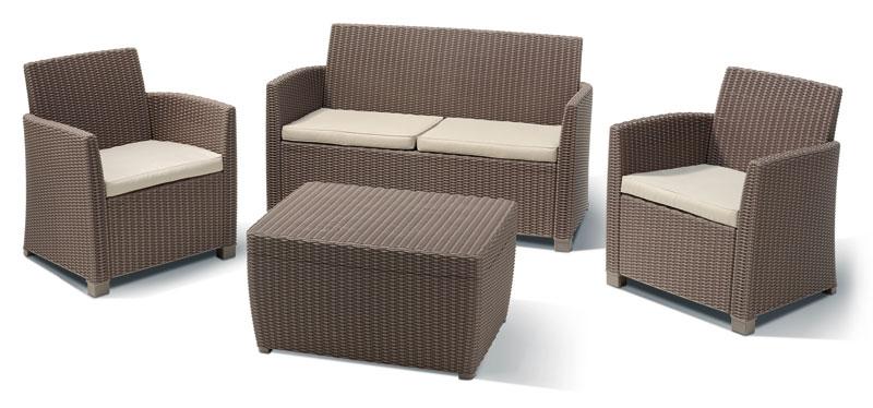 gartenm bel loungem bel set bali 4 teilig polyrattan. Black Bedroom Furniture Sets. Home Design Ideas