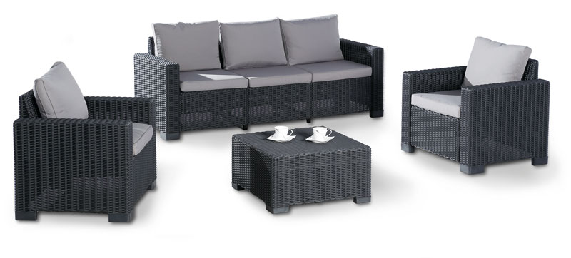gartenm bel loungem bel set mombasa 4 teilig polyrattan. Black Bedroom Furniture Sets. Home Design Ideas