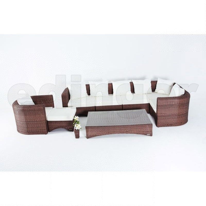 Outflexx gartenm bel polyrattan lounge gruppe 8 tlg for Gartenmobel lounge gruppe