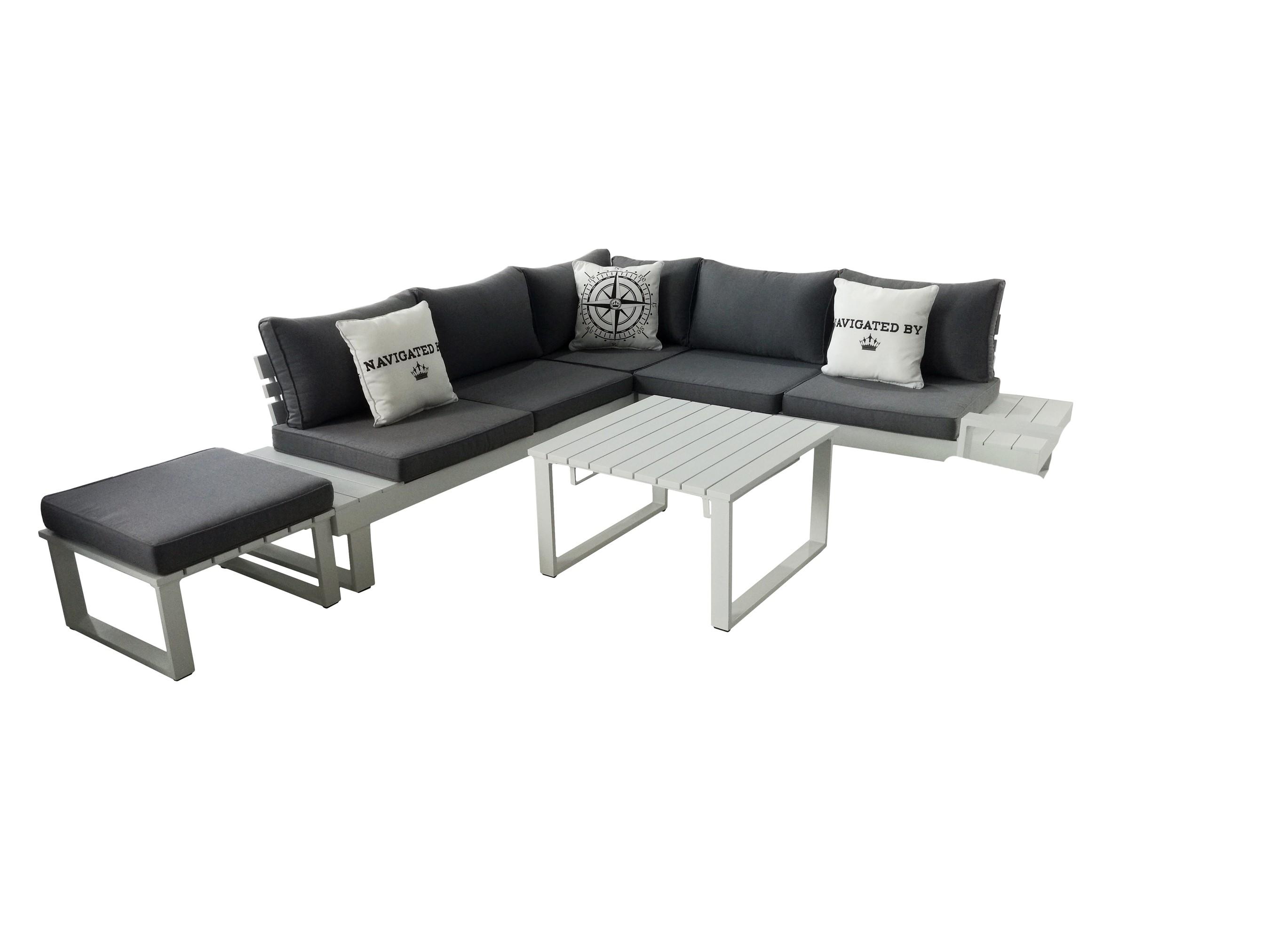 Sungörl Gartenmöbel / Lounge Set Baracoa Eck-Lounge Alu graphit 5 ...