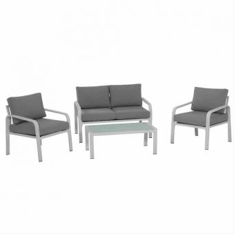 Aluminium Loungemöbel Siena Garden Dalia Set 4-teilig weiß/grau Bild 1