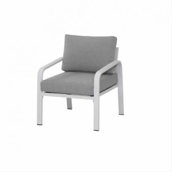 Aluminium Loungemöbel Siena Garden Dalia Set 4-teilig weiß/grau Bild 2