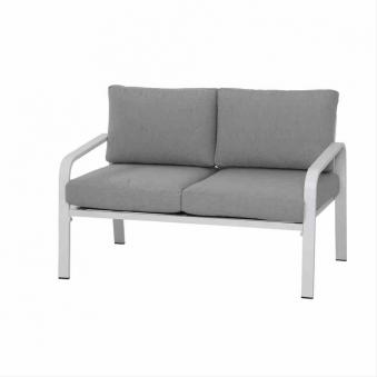 Aluminium Loungemöbel Siena Garden Dalia Set 4-teilig weiß/grau Bild 3