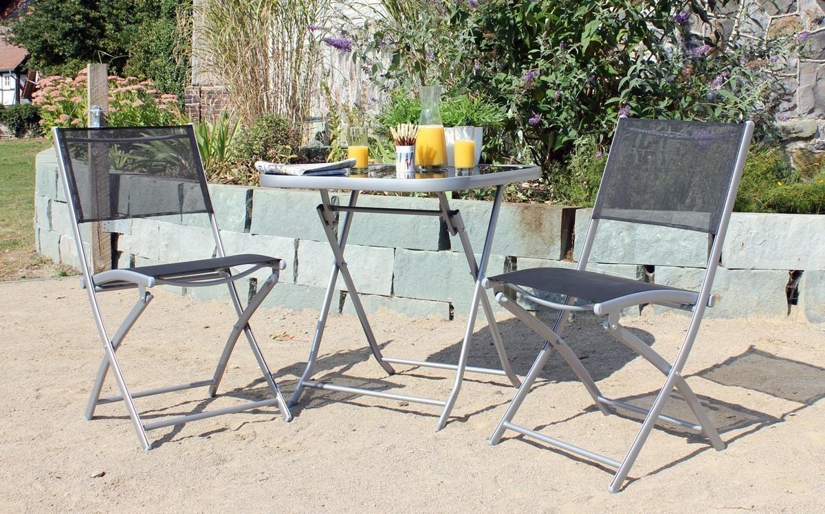 Gartenmöbel / Balkonmöbel Set Sun City Gardissimo Stahl 3-teilig Bild 1