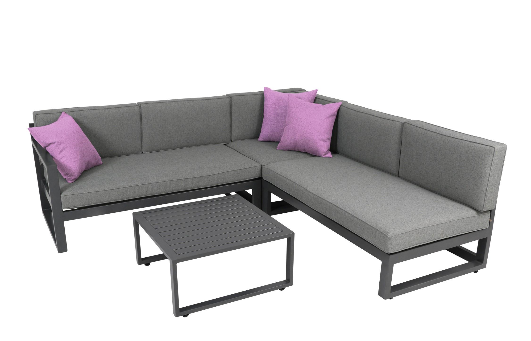 gartenm bel lounge set costa rica greemotion alu grau. Black Bedroom Furniture Sets. Home Design Ideas