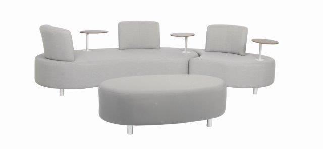 Gartenmöbel / Lounge Set acamp Candy Aluminium / Textil grau Bild 1
