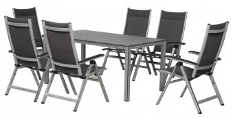 gartenm bel set core mwh rechteckig alu silber 7 teilig bei. Black Bedroom Furniture Sets. Home Design Ideas