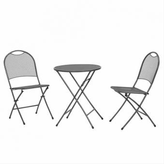 mwh gartenm bel balkonm bel set cafe latte streckmetall eisengrau bei. Black Bedroom Furniture Sets. Home Design Ideas