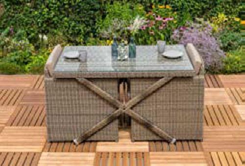 Gartenmöbel Balkonmöbel Set Avola Xxl Polyrattan Natur 7 Teilig