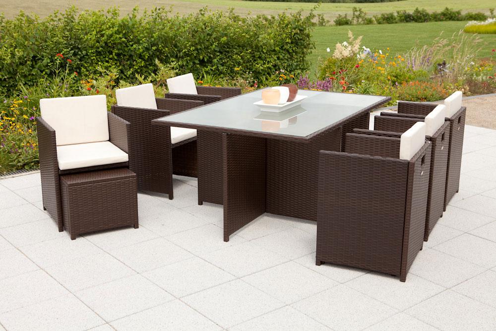 gartenm bel lounge m bel set verona polyrattan braun 27. Black Bedroom Furniture Sets. Home Design Ideas