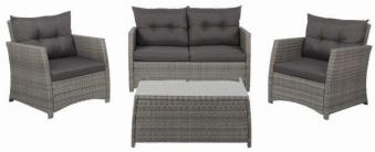 Gartenmöbel / Lounge Set acamp Killian Polyrattan grau Bild 1