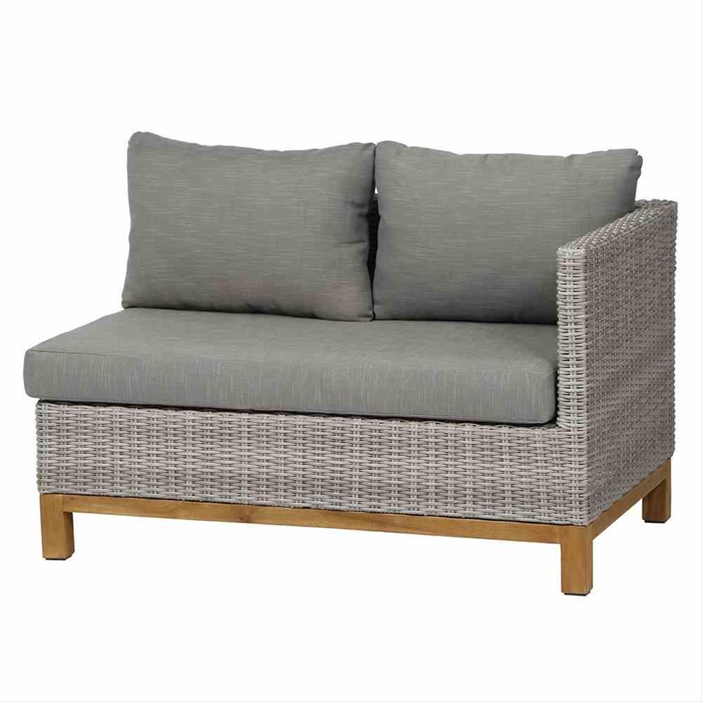 Gartenmöbel Loungemöbel Set Siena Garden Ohio 4tlg Polyrattan grau Bild 2