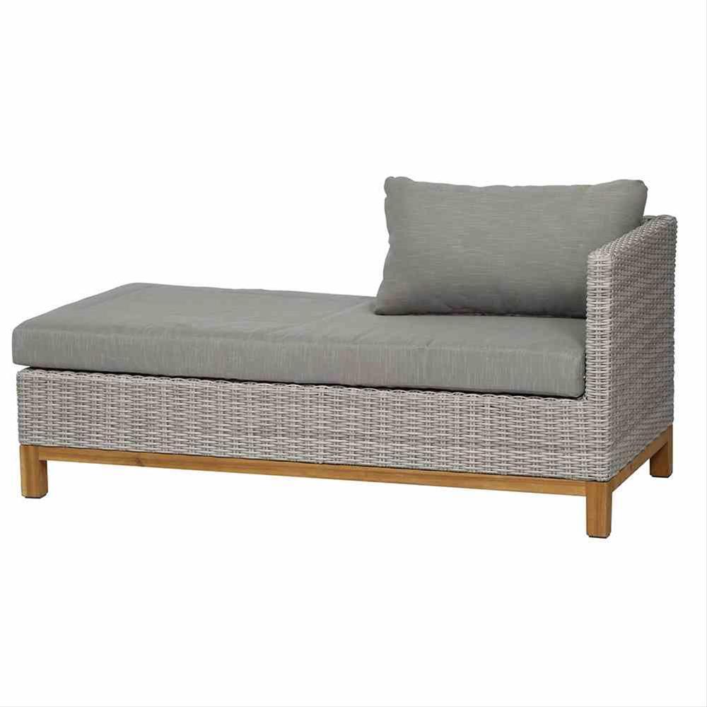 Gartenmöbel Loungemöbel Set Siena Garden Ohio 4tlg Polyrattan grau Bild 3