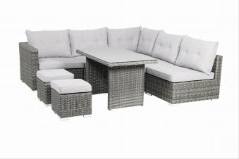 Gartenmöbel / Loungemöbel Set acamp Sicilia 8teilig Polyrattan grau Bild 1
