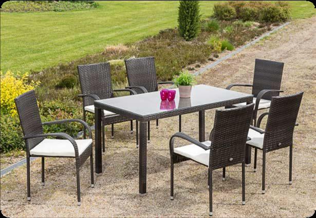 gartenm bel set alicante polyrattan braun 13 teilig bei. Black Bedroom Furniture Sets. Home Design Ideas