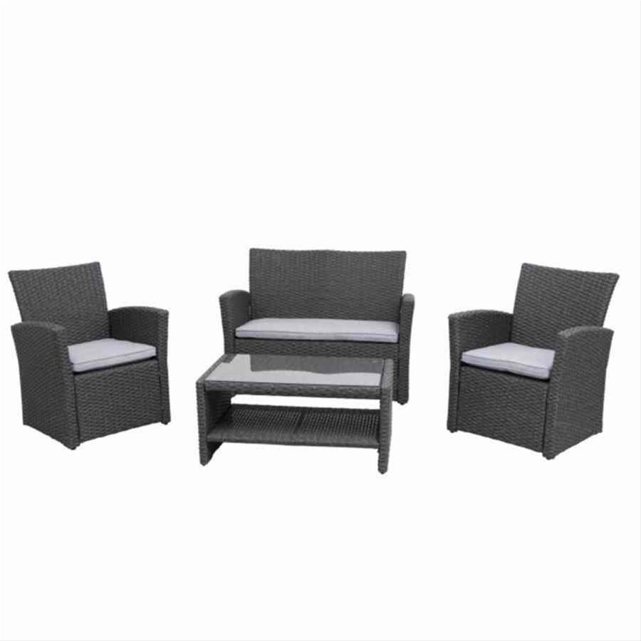 gartenmobel lounge set grau interessante ideen f r die gestaltung von gartenm beln. Black Bedroom Furniture Sets. Home Design Ideas