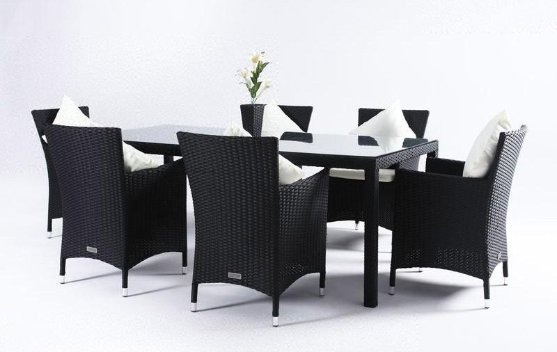 gartenmobel polyrattan schwarz – flashzoom, Garten ideen gestaltung