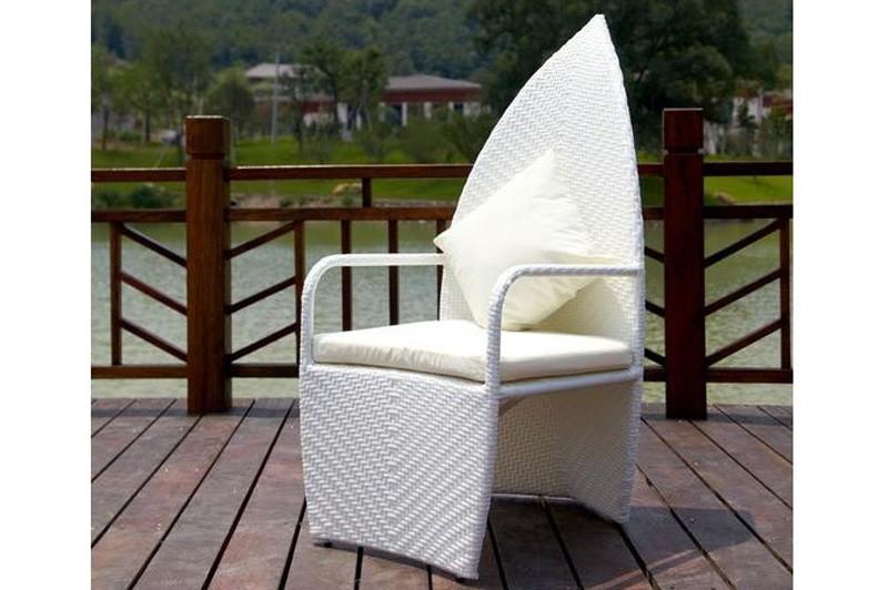 Esstisch Rattan Weiß ~ Outflexx Gartenmöbel Polyrattan Esstisch und 4 LeafChair weiß 3336  bei edi