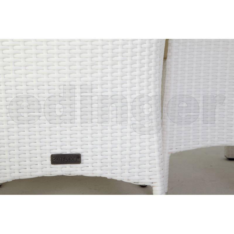 outflexx gartenm bel polyrattan esstisch und 6 st hle wei. Black Bedroom Furniture Sets. Home Design Ideas