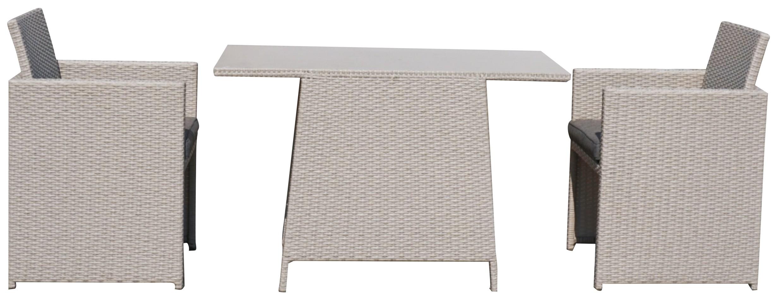 Sungörl Balkonmöbel / Gartenmöbel Set Tiffani Polyrattan grey 6-teilig Bild 1