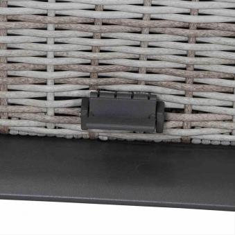 Gartentisch Lifttisch Siena Garden Soria Polyrattan braun 160x90cm Bild 3