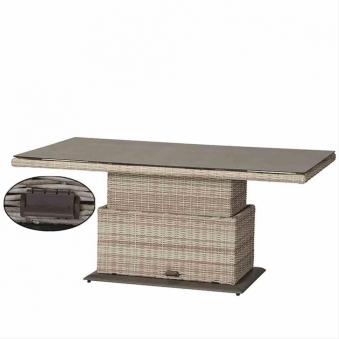 Gartentisch Lifttisch Siena Garden Soria Polyrattan braun 160x90cm Bild 5