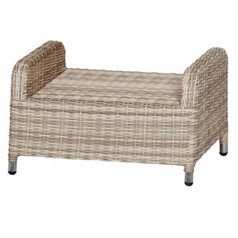 Lounge Hocker / Ottomane Siena Garden Soria Polyrattan braun Bild 3
