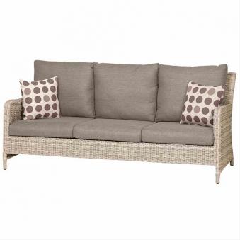 Lounge Sofa / Gartensofa 3-Sitzer Siena Garden Soria Polyrattan braun Bild 1