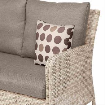 Lounge Sofa / Gartensofa 3-Sitzer Siena Garden Soria Polyrattan braun Bild 2
