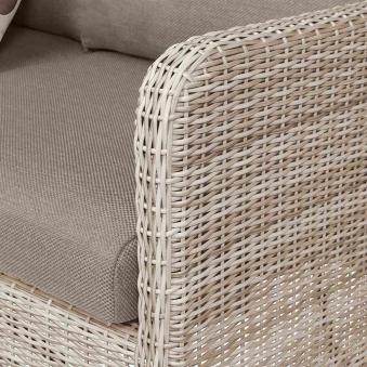 Lounge Sofa / Gartensofa 3-Sitzer Siena Garden Soria Polyrattan braun Bild 3