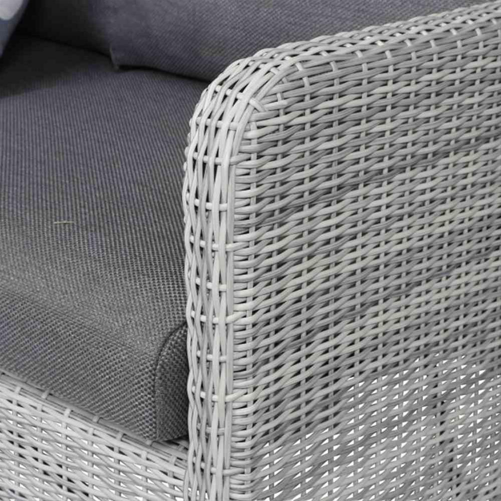 Lounge Sofa Gartensofa 3 Sitzer Siena Garden Soria Polyrattan Grau