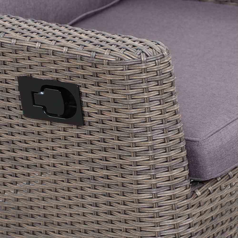 Siena Garden Lounge Sessel / Positionssessel Teramo Polyrattan bronze Bild 3